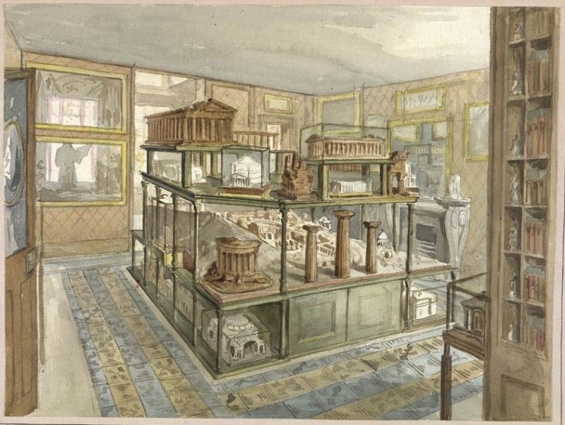 The Model Room. Watercolour by C.J. Richardson c.1834-35. Image courtesy of the British Library.