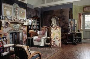 Vanessa Bell's studio at Charleston House, http://www.charleston.org.uk/.