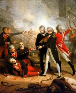 Richard Westall, Nelson receiving the surrender of the 'San Nicolas', 14 February 1797, 1806. Oil on canvas, 86.3 x 71.1 cm. National Maritime Museum, Greenwich, UK. http://collections.rmg.co.uk/collections/objects/14382.html.