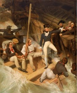 Richard Westall, Nelson boarding a captured ship, 20 November 1777, 1806. Oil on canvas, 86.36 x 71.12 cm. National Maritime Museum, Greenwich, UK. http://collections.rmg.co.uk/collections/objects/11913.html.