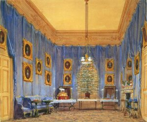 Joseph Nash (1809-78) The Queen's Christmas Tree, Windsor Castle, 1845. signed 1845 Watercolour and bodycolour | RCIN 919807