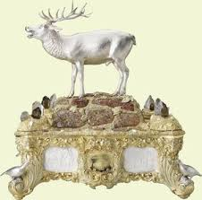 Atholl Inkstand, 1844-5, by Kitching & Abud for Charles Rawlings and William Summers. The Royal Collection.