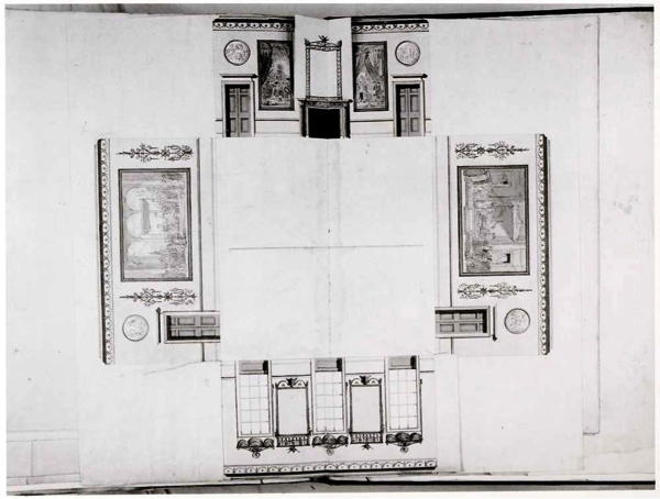 Lancelot Brown, Preparatory drawing for the Eating Room, Claremont, Surrey.  National Archives, Kew.
