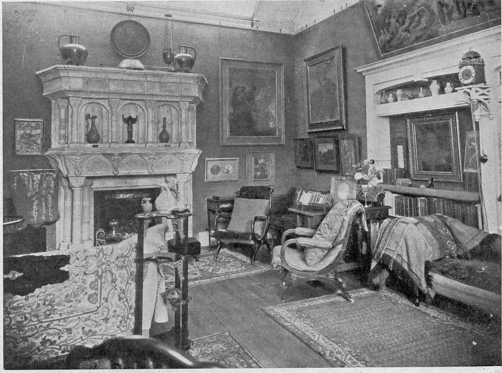 Drawing Room at Limnerslease, 1913 This room had many lives – as a music room, as Mary Watts's Home Arts and Industries classroom, as G. F. Watts's 'overflow' studio and – when other uses permitted – as a Drawing Room. From 2015 it will have yet another identity as a new public Gallery space, devoted to the art and design of Mary Watts.