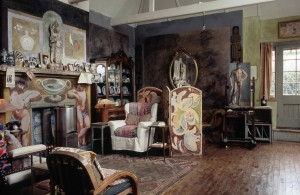 Vanessa Bell's studio at Charleston House, http://www.charleston.org.uk/.