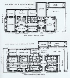 Clark Mansion floor plan, 960 Fifth Avenue, New York.
