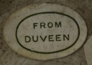 Duveen label, from a list compiled by Dr. Yupin Chung, www.liverpoolmuseums.org.uk