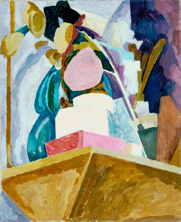 Vanessa Bell, Still-Life on the Corner of a Mantelpiece, c. 1914. Oil canvas, Tate. © Estate of Vanessa Bell, courtesy Henrietta Garnett.