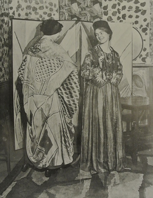 Nina Hamnett and Winifred Gill, photographed in The Illustrated London Herald, October 24, 1915. The British Library.